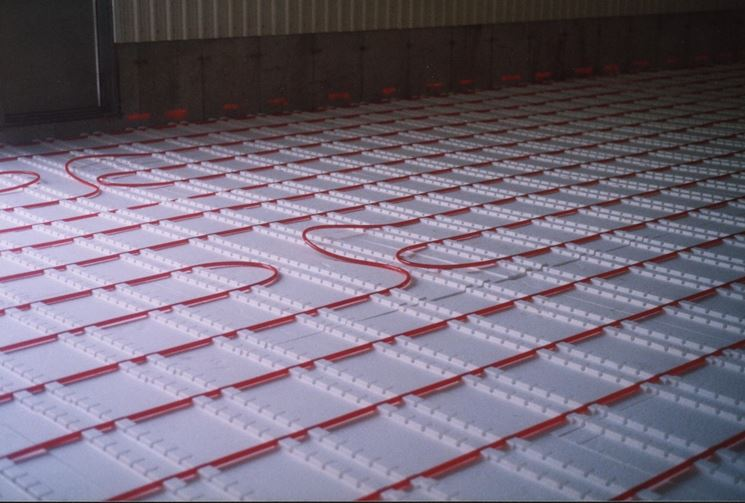 Pannelli radianti a pavimento