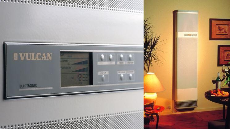 Pannello comandi radiatore gas