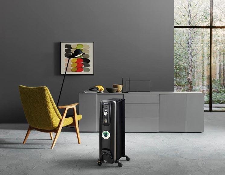 radiatore ad olio nero