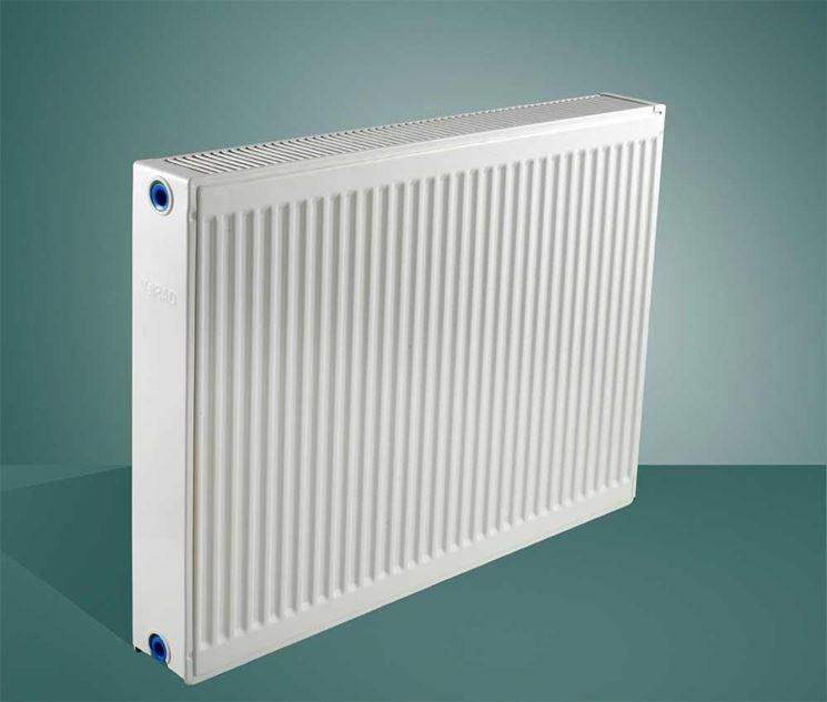 Modello di radiatore in acciaio
