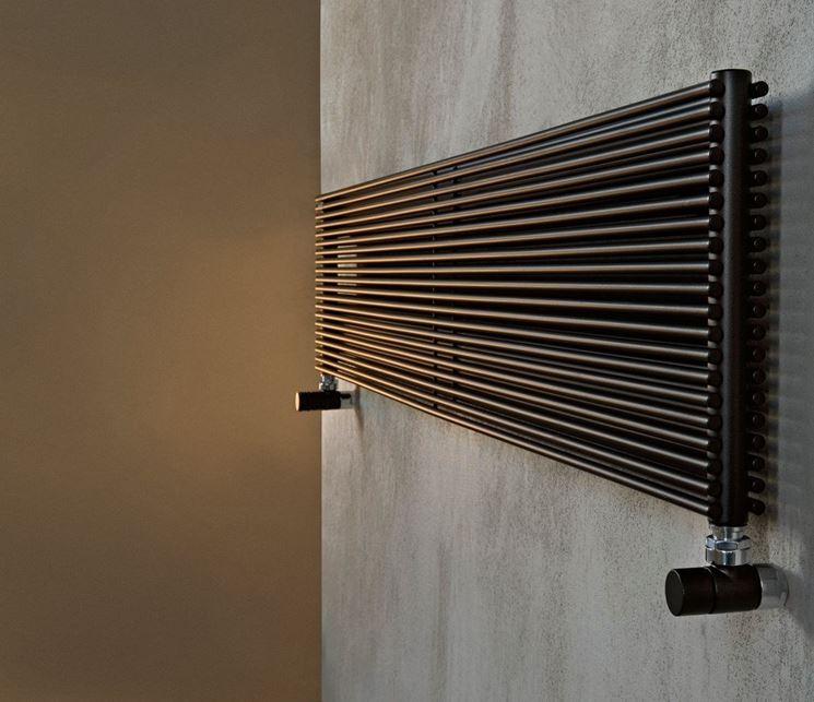 Calorifero in acciaio moderno