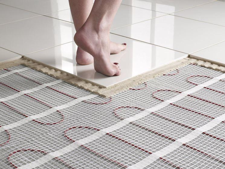Struttura pavimento riscaldato