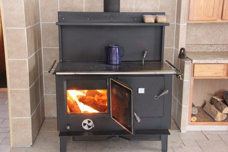 Esempio di termocucine a legna