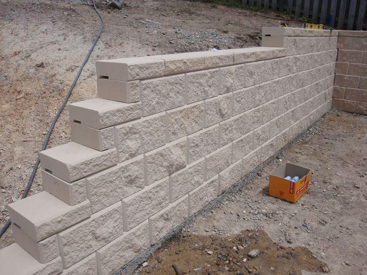 L'installazione dei blocchi calcestruzzo