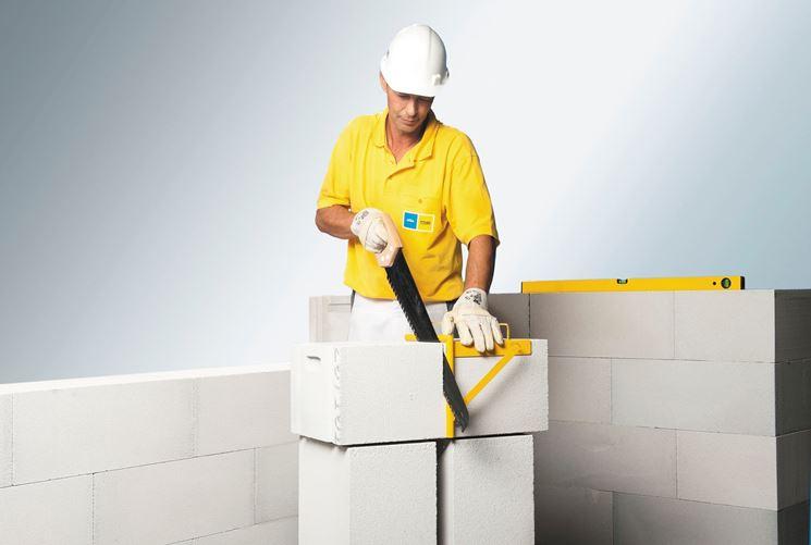 realizzare parete con blocchi termici
