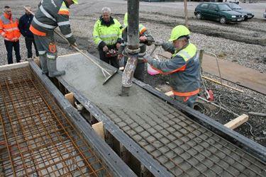 lavorazione del cemento armato sul posto