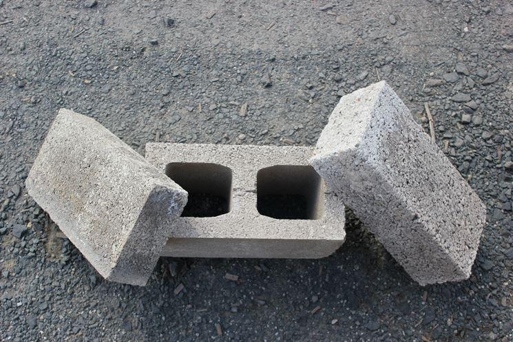 Esempio di mattoni forati