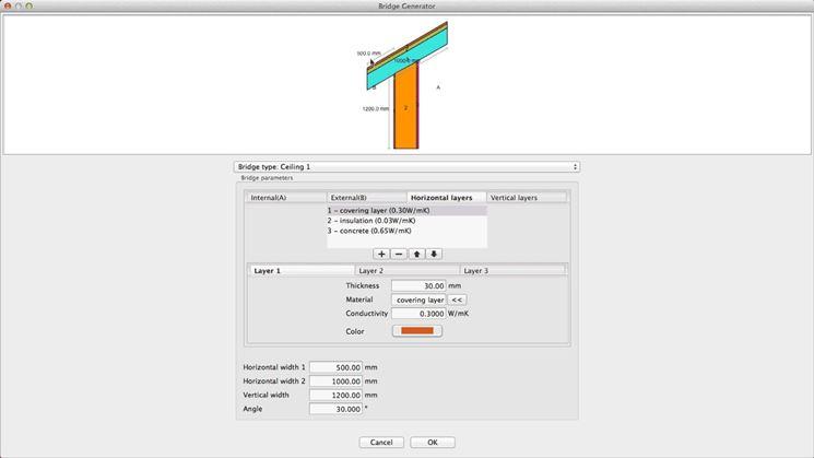 Calcolo valori ponte termico
