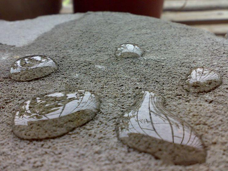 Idrorepellenza delle malte impermeabilizzanti