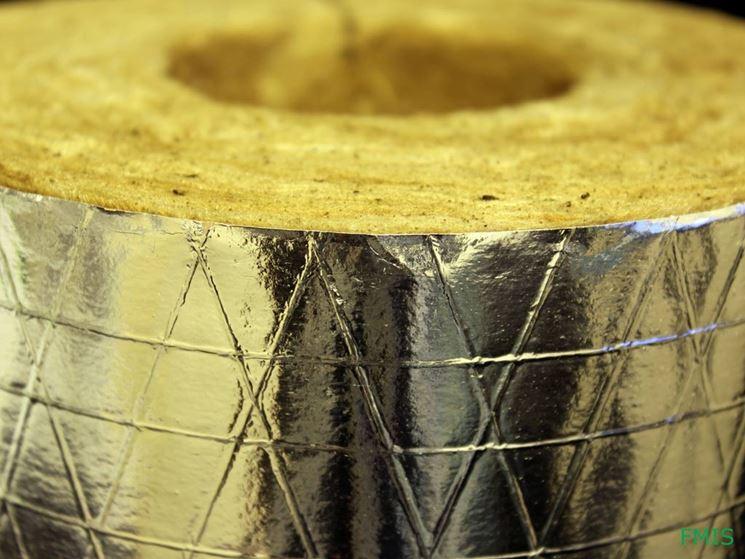 lana di roccia con rivestimento