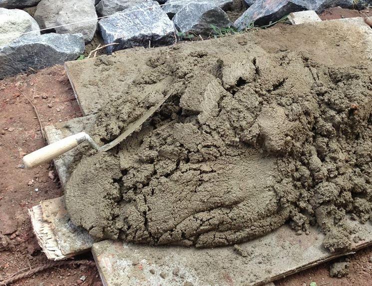 Applicazione della malta cementizia
