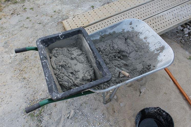 Il cemento, uno dei principali leganti
