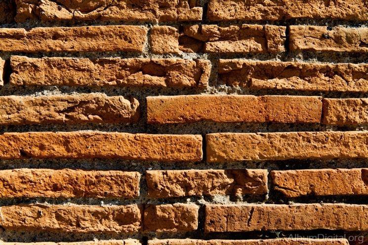 Muro in laterizio romano