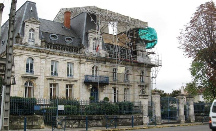 edificio soggetto a ripristino