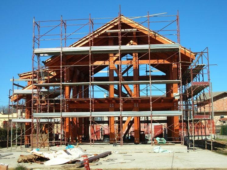 Edificio in cemento e mattoni