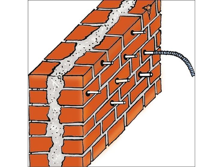 Struttura dei muri a sacco