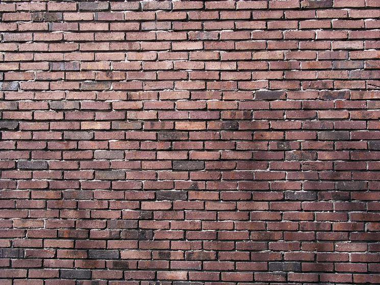 Muro in mattoncini di pietra