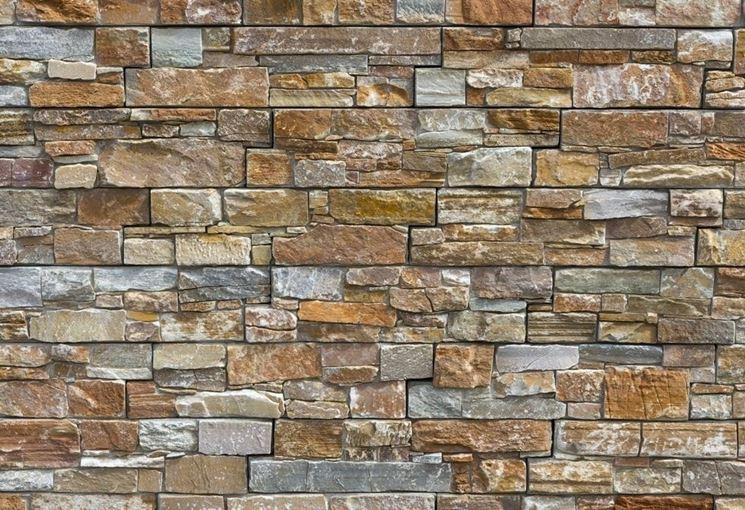 Rivestimento in pietra cemento e mattoni come for Rivestimento parete leroy merlin