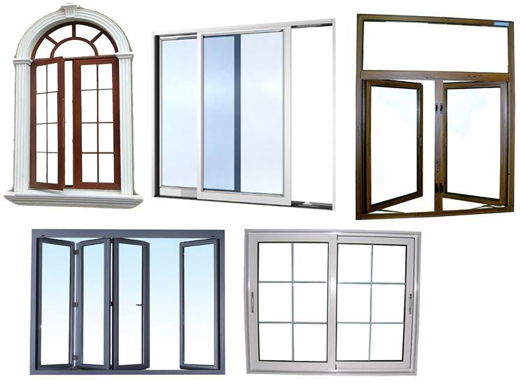 Vari tipi di finestre in alluminio