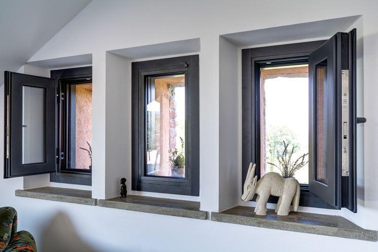 Un modello di finestra blindata