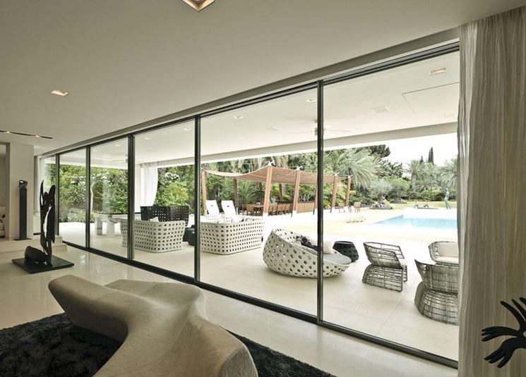 Finestre-vetrate in alluminio anodizzato