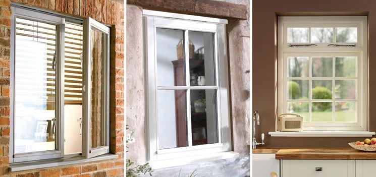 Diversi modelli di finestre