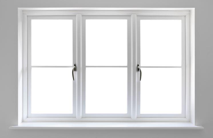 Finestra bianca in PVC