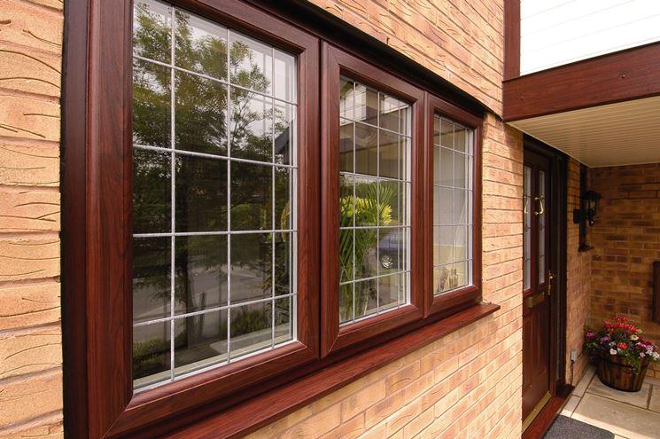 Finestra in PVC effetto legno