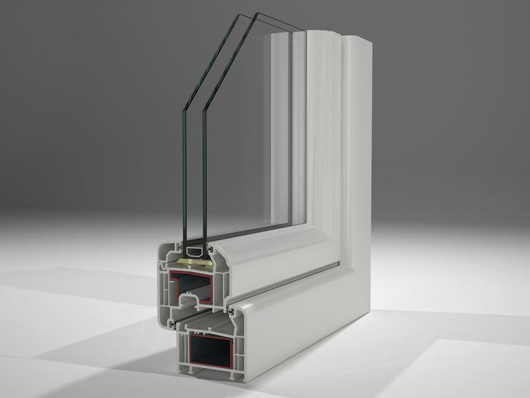 particolare finestre in pvc