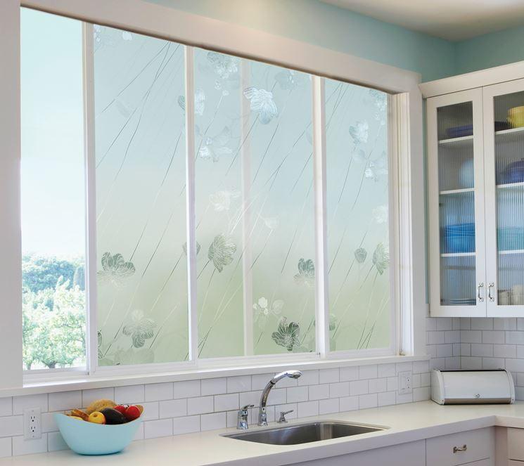 Pellicola per vetri in una cucina