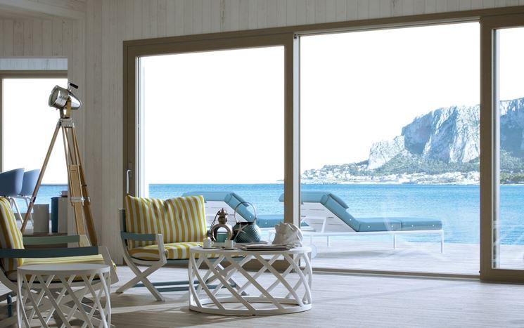 Porta finestra scorrevole finestre lucernari la for Finestra esterna scorrevole