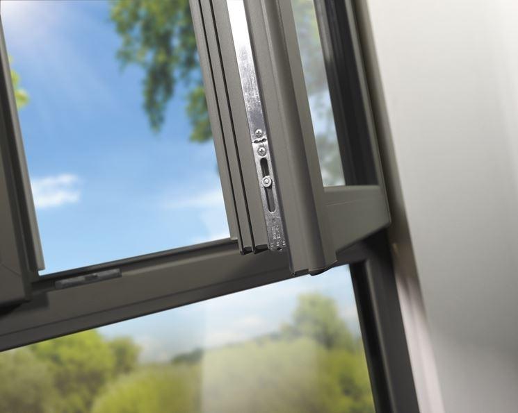 particolare finestra in pvc