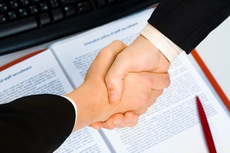 Due parti di un contratto
