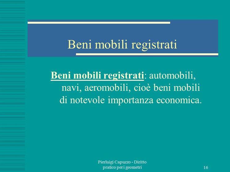 Beni mobili registrati<p />