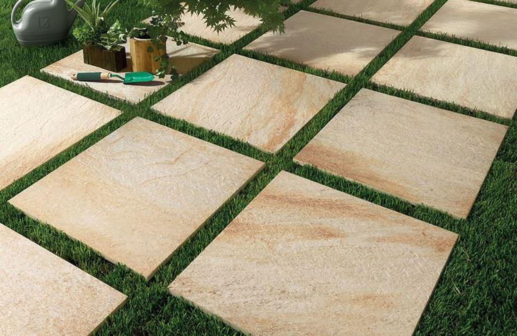 Pavimentazione di pietra naturale