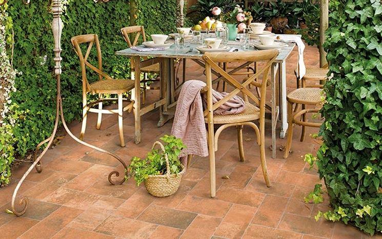 Mattonelle per esterno mosaici e mattonelle tipologie - Mattonelle giardino ...