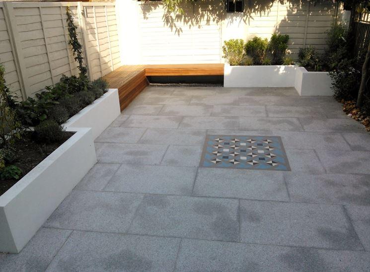 Mattonelle per giardini mosaici e mattonelle pavimento for Materiale per mattonelle
