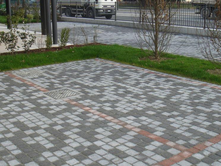 Pavimentazione da esterno color grigio