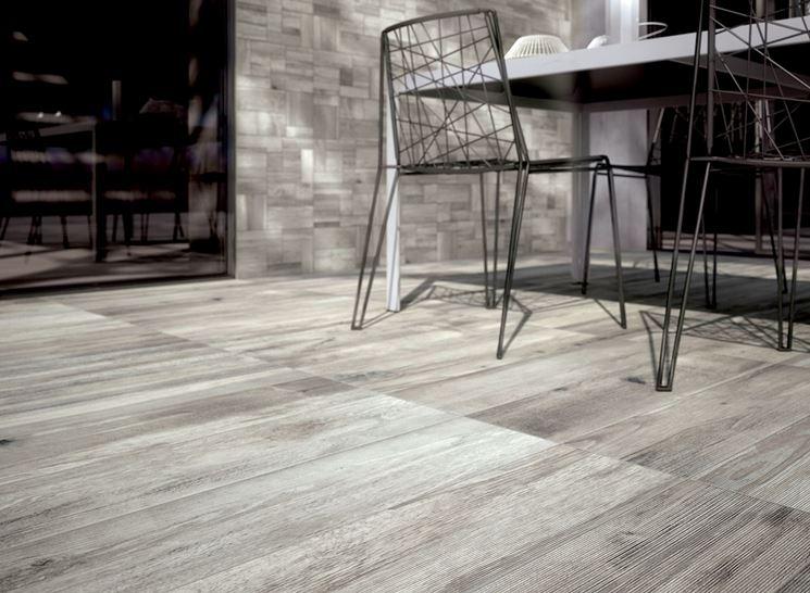 Esempio vinilico effetto legno
