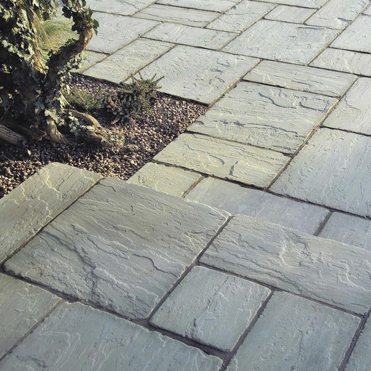 Pietra ricostruita per esterni pavimenti per esterni materiale esterni - Piastrelle di pietra per esterni ...