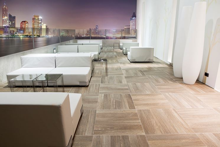 Terrazzo con rivestimento moderno
