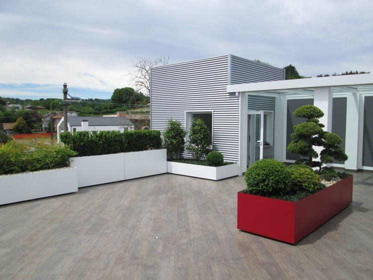 Terrazzo con rivestimento in gres