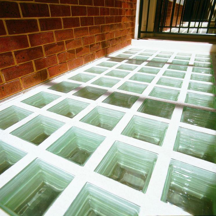 Un esempio di pavimento con vetromattone