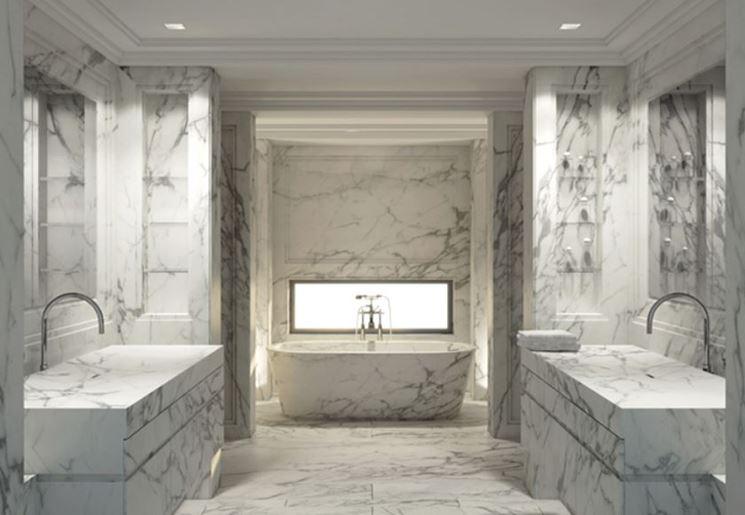 Sala bagno marmo