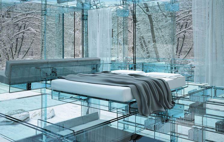 elegante pavimento in vetro