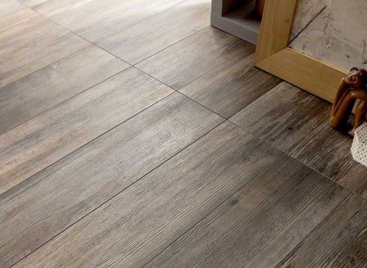 pavimento in ceramica effetto legno moderno