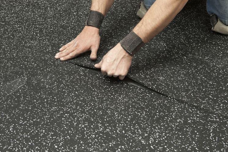 Rotolo per pavimento in gomma