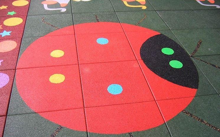 Pavimento in gomma per la stanza dei bambini
