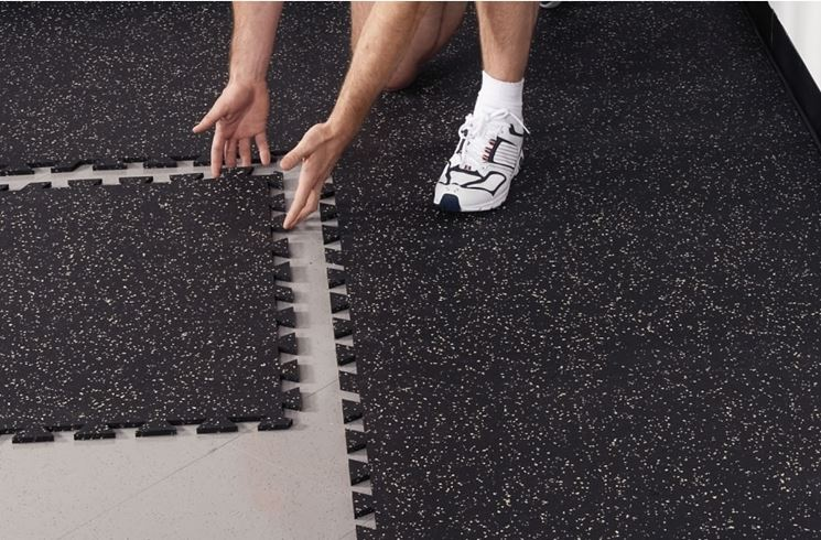 I pavimenti in gomma piastrelle per casa utilizzare i