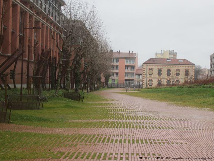 esempio di pavimentazione drenante